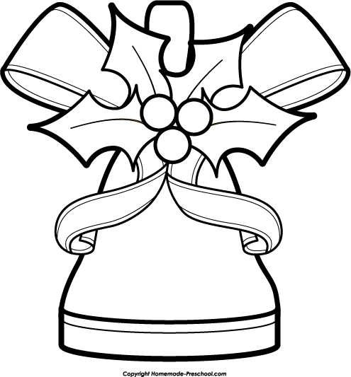 Bell black and white clipart suggest