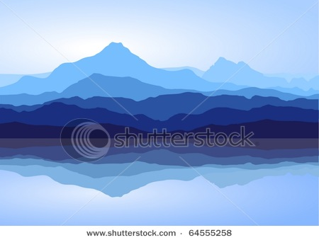 In The Distance Reflecting Off The Calm Waters Of A Mountain Lake