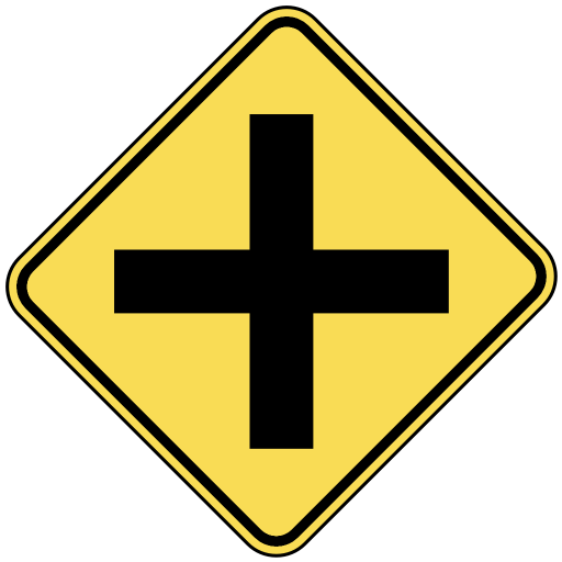 Intersection Ahead   Http   Www Wpclipart Com Travel Us Road Signs