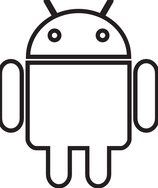 Log Clip Art Black And White Android Robot Black White Art Png