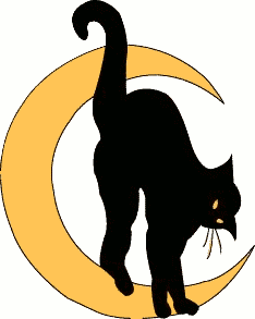 Clip Art Halloween Cat Clipart halloween black cat clipart kid moon and white panda free images