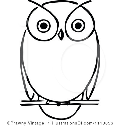 Owl Clipart Black And White Royalty Free Owl Clipart Illustration