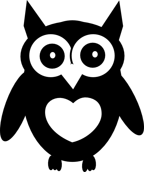 Owl With Heart Clip Art At Clker Com   Vector Clip Art Online Royalty