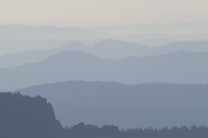 Photo Of The Misty Mountains And Hills Of The Cascade Mountain Range