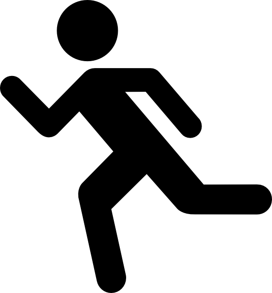Small Person Running Clipart - Clipart Kid
