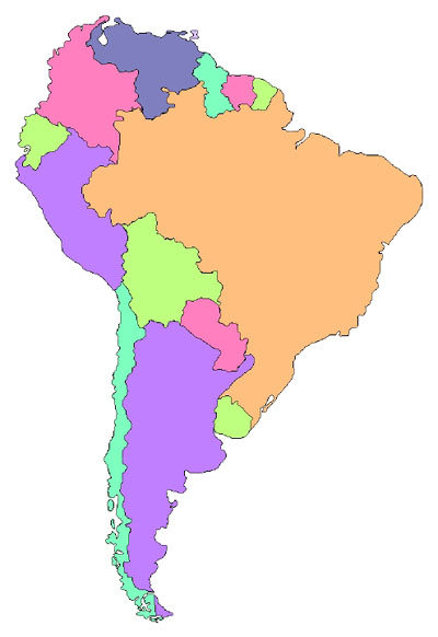 South America Map Collection   Political Borders Map