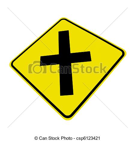 Stock Illustration   Roadway Intersection Sign   Stock Illustration