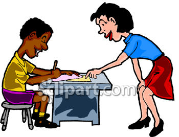 Teacher Helping Student Clipart - Clipart Kid