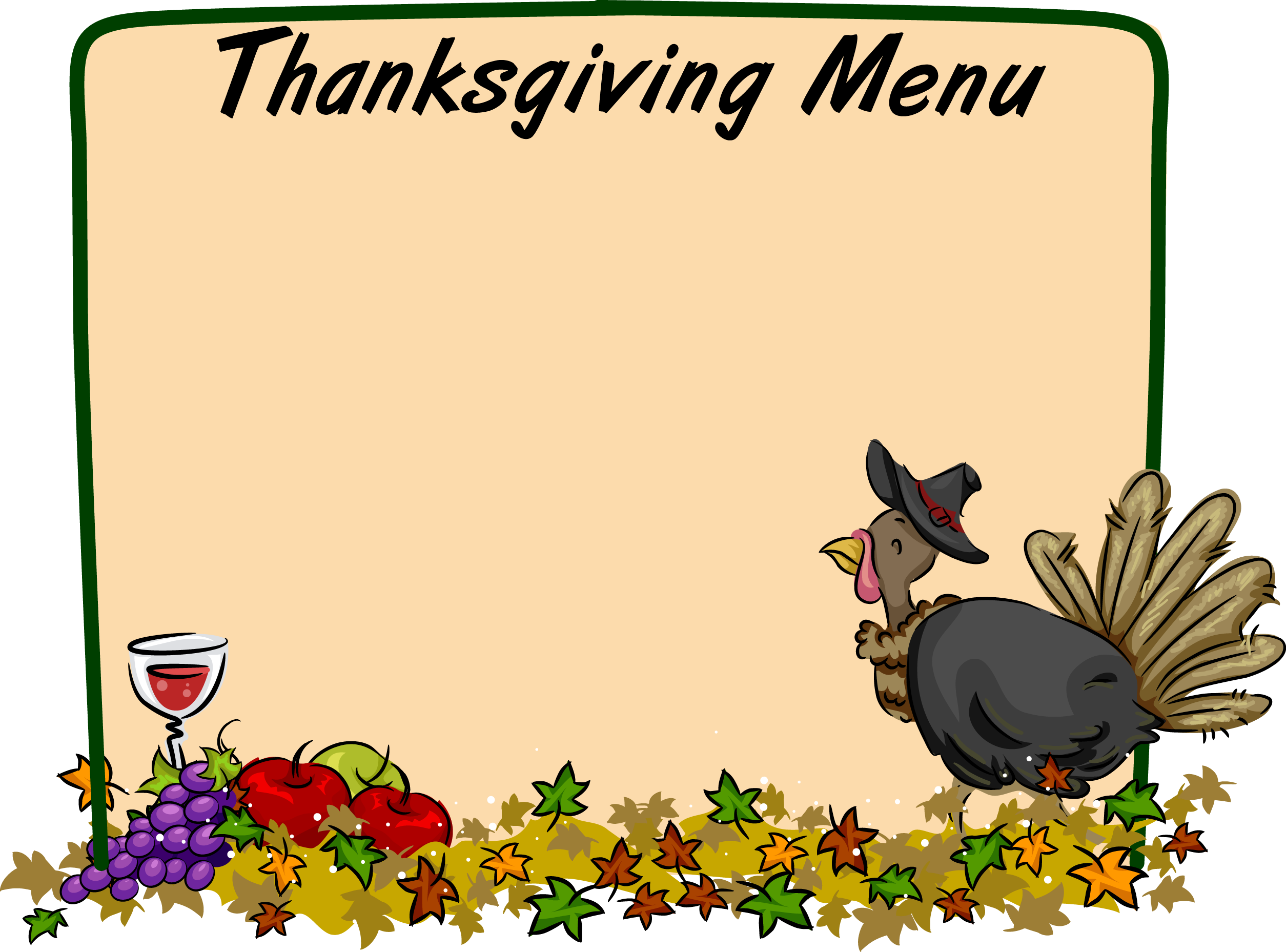 Thanksgiving Borders Clip Art Free   Clipart Best