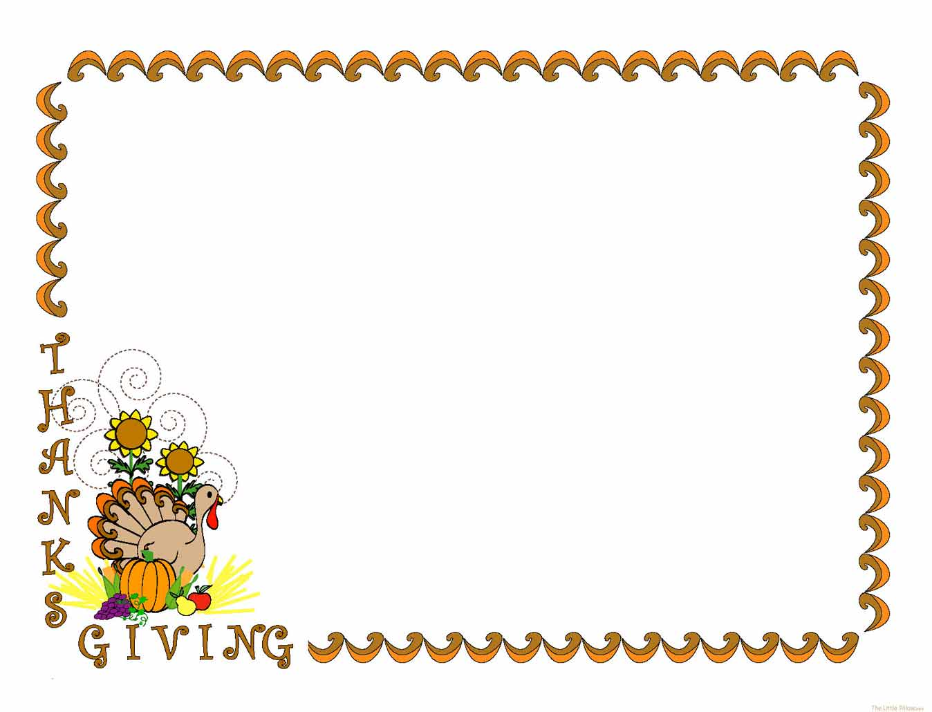 Thanksgiving frame clipart clipart kid