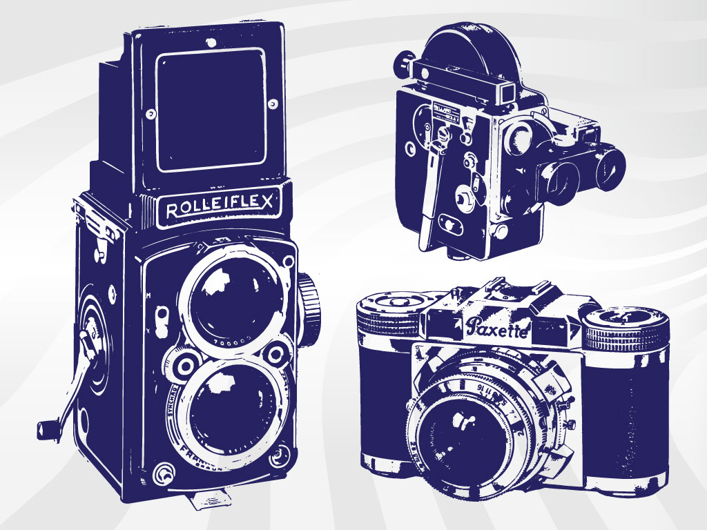 This Highly Detailed Set Of Illustrated Cameras Will Fit Right In To