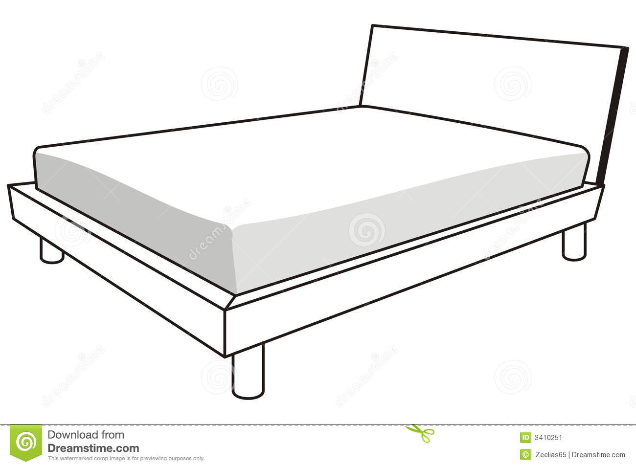 Under The Bed Clipart Black And White White Bed Clipart Black