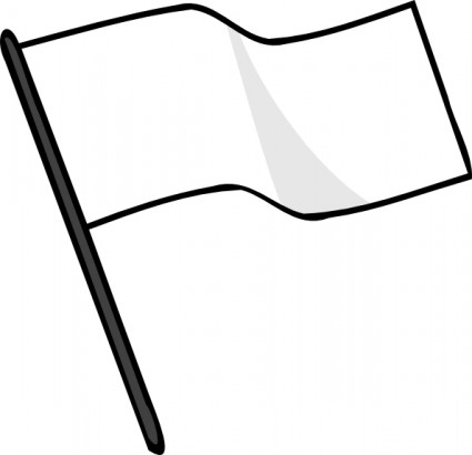 Waving White Flag Clip Art Free Vector 53 09kb