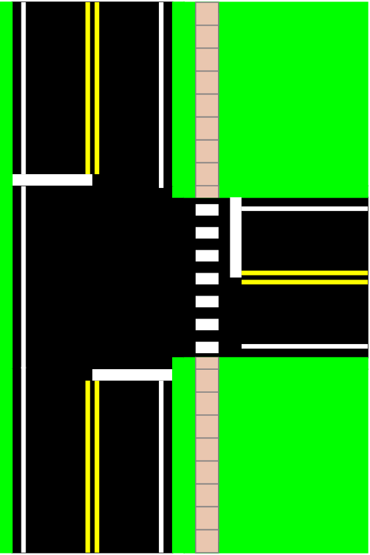 Way Intersection By Mazeo   A Three Way Paved Street Intersection