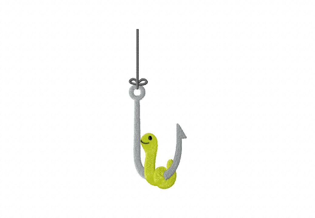 Cartoon Hook With Worm Fishing hook worm with clipart - clipart kid