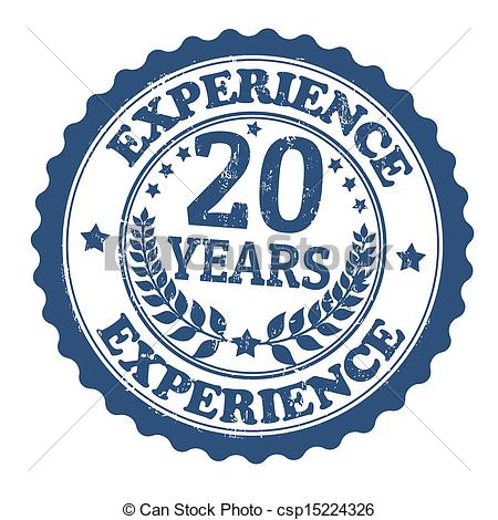 20 Years Experience Stamp   Csp15224326
