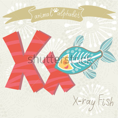 Animal Letter   X Ray Fish Made With Stock Vector   Clipart Me