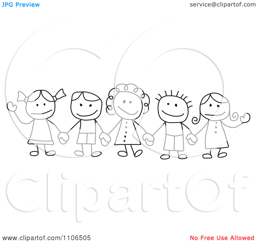 Holding Hands Black And White Clipart - Clipart Kid