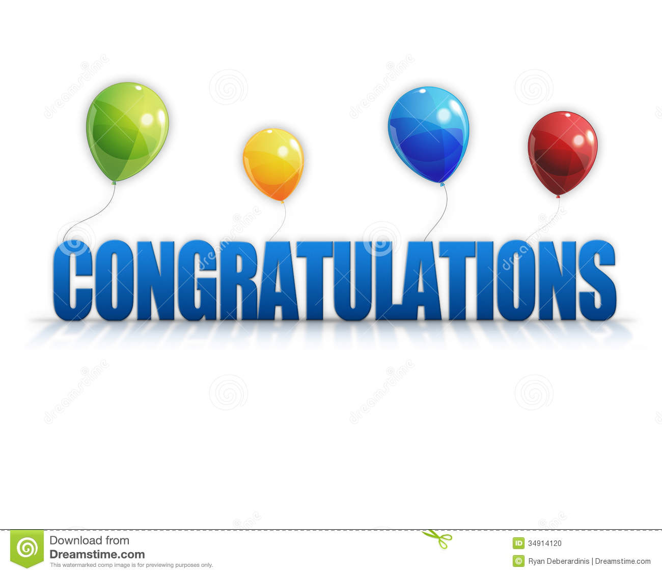 Congratulations New Job Clipart Congratulations Balloons 3d