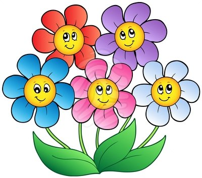 Download Animated Happy Flower Clipart