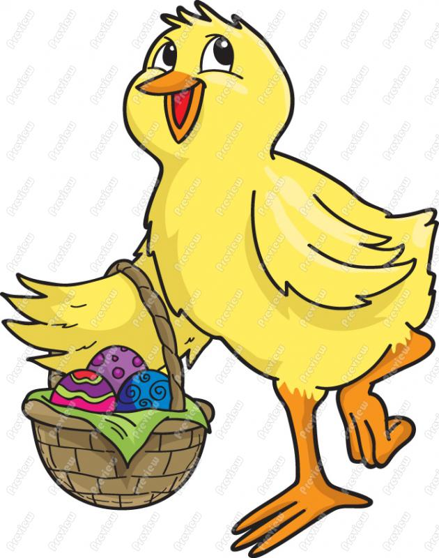 Easter Chick Clipart - Clipart Kid