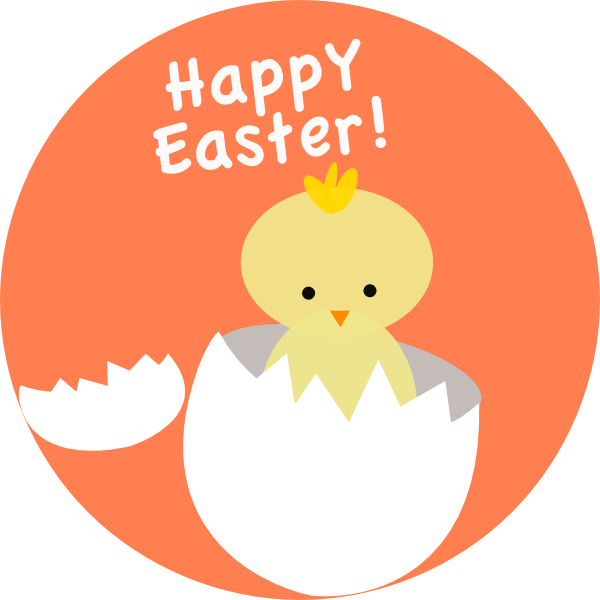 Easter Chick Hatching Clip Art
