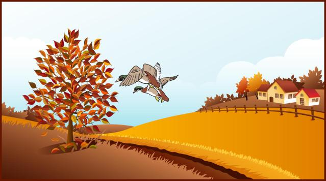 Fall Scene Clipart - Clipart Kid