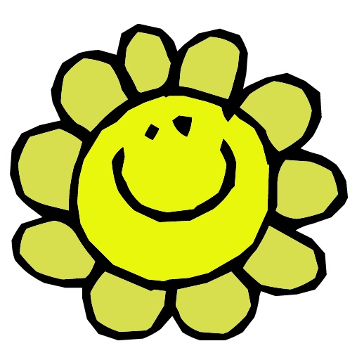 Free Original Clip Art   30000 Free Clipart Images   Happy Flower Jpg