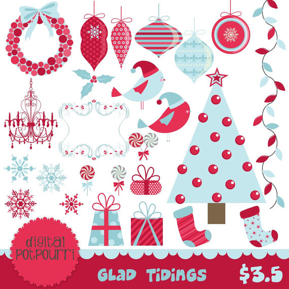 Glad Clipart Instant Download Buy2get1 Clipart Set   Glad Tidings