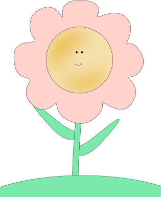 Happy Face Flower Clip Art Image   Pink Flower With A Happy Smiley