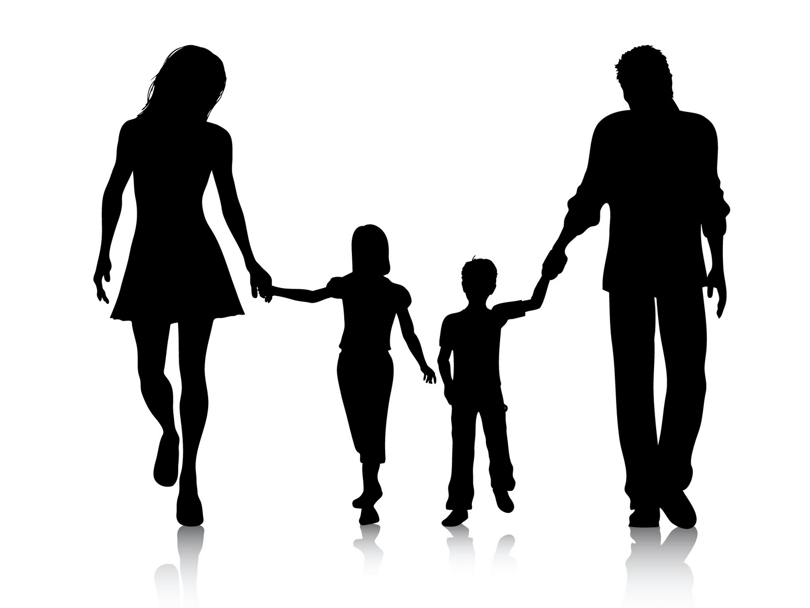 Holding Hands Clipart Black And White Family Clipart Black And White