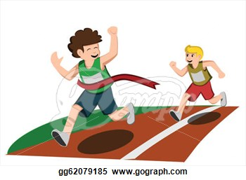 Running Race Clipart - Clipart Kid