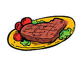 Cartoon Steak Stock Illustration Images  129 Cartoon Steak