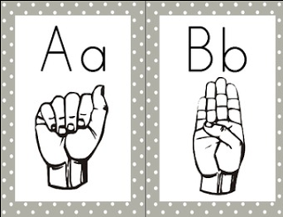 Classroom Freebies Too  Word Wall Letters   American Sign Language