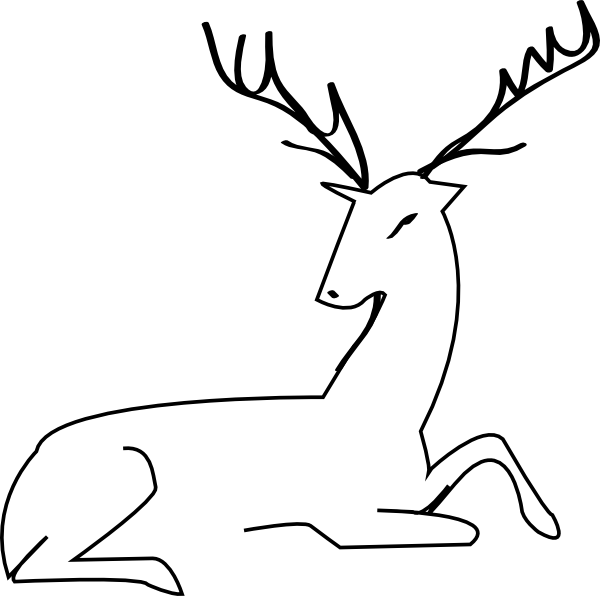 Deer Outline Clip Art At Clker Com   Vector Clip Art Online Royalty
