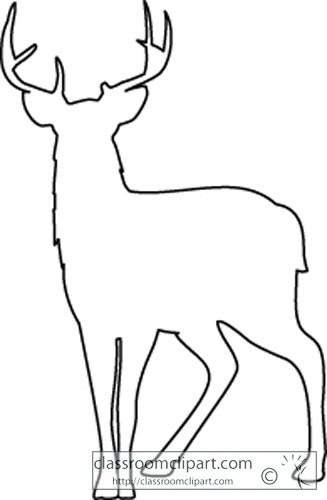 Deer Outline Clipart