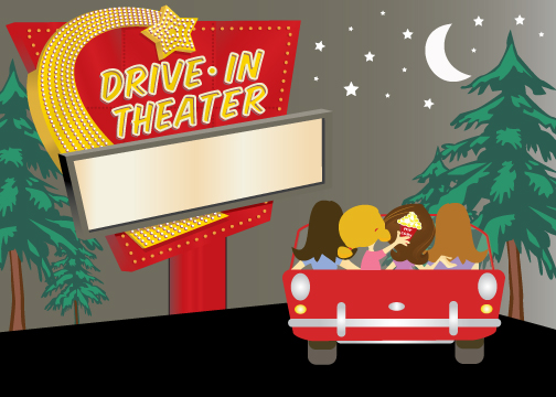 Drive In Movie Screen Clipart Drive In Movie Birthday Party