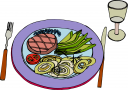Grilled Steak Dinner Clipart   Free Clip Art Images