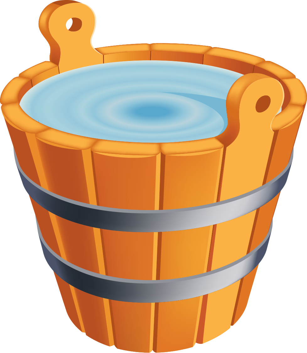 Wooden Water Bucket Clipart - Clipart Suggest