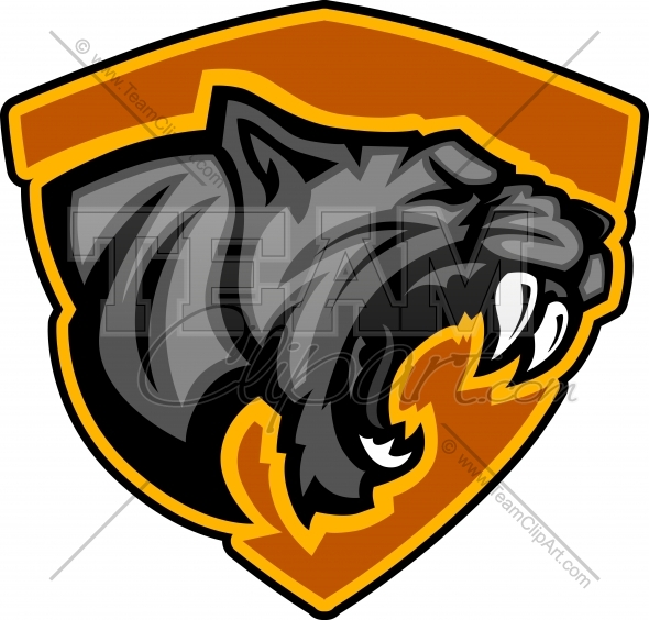 Panther Mascot Logo Clipart In An Easy To Edit Vector Format