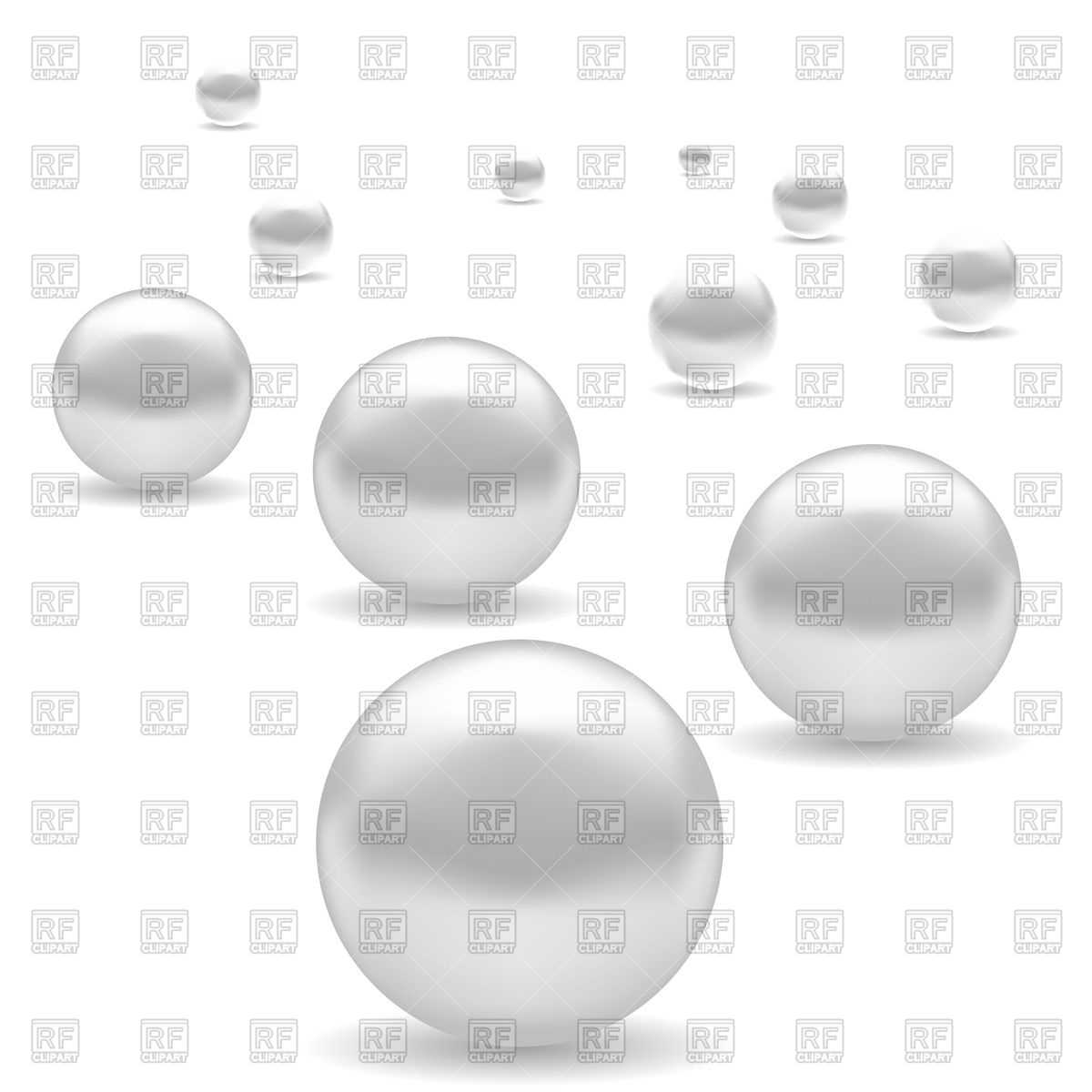 Set Of White Pearls 76992 Download Royalty Free Vector Clipart  Eps
