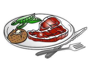 Steak Dinner Clipart   Steak Dinner Clip Art Dinner Clipart Dinner