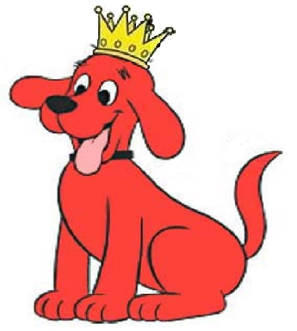 It's just a photo of Witty Clifford the Big Red Dog Clipart