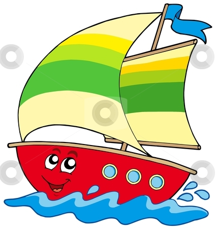 Cartoon Boat Clipart - Clipart Kid