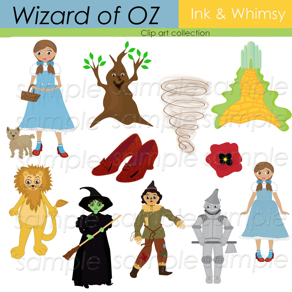 Clip Art Wizard Of Oz Clip Art wizard of oz clipart kid digital clip art instant by inkandwhimsy2