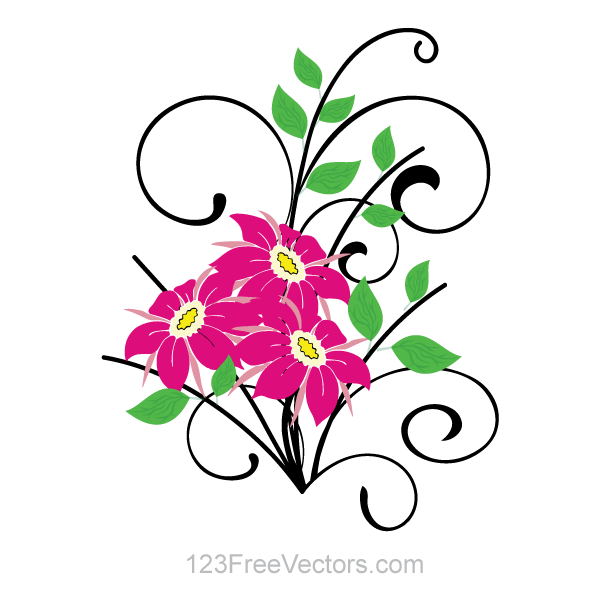 Basket Of Flowers Clipart - Clipart Kid