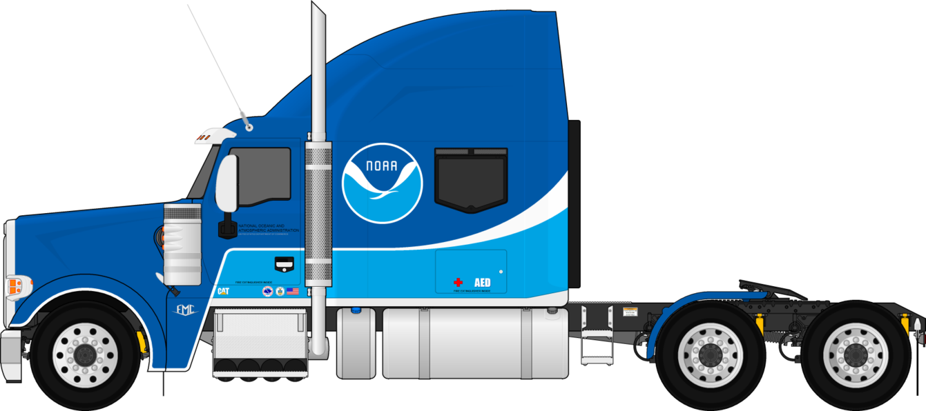 Fmc 850c Fictional Noaa Semi Trailer Truck By Dharjinni On Deviantart