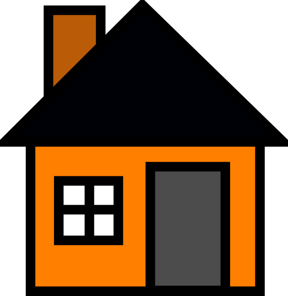 Orange House Clip Art At Clker Com   Vector Clip Art Online Royalty