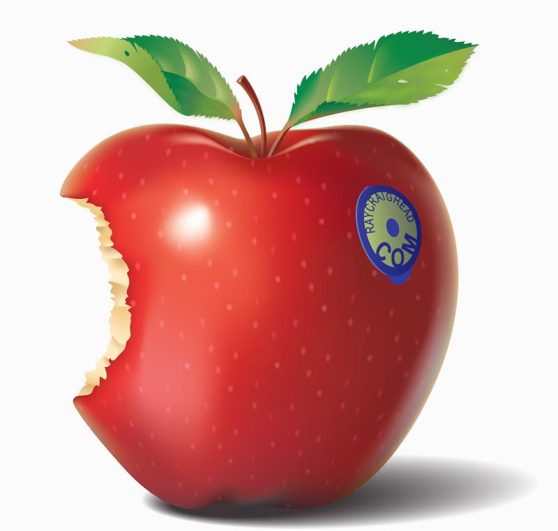 how to break an apple in half