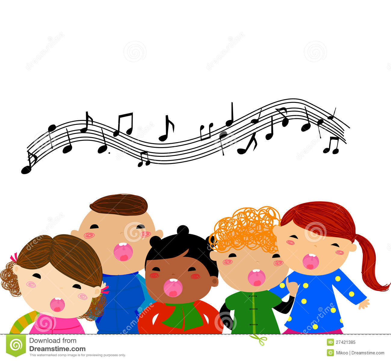 Group Singing Clipart - Clipart Kid